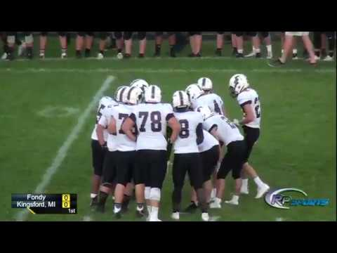 Fondy VS Kingsford, MI High School Football 9/7/2018