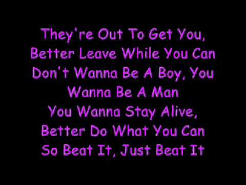 Michael Jackson-Beat It (Lyrics)