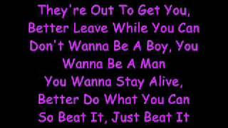 Michael Jackson Beat It Lyrics