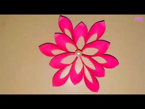 Diy 3D flower - How to make easy paper 3D flower craft - paper flower craft
