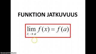Funktion jatkuvuus (MAA6)