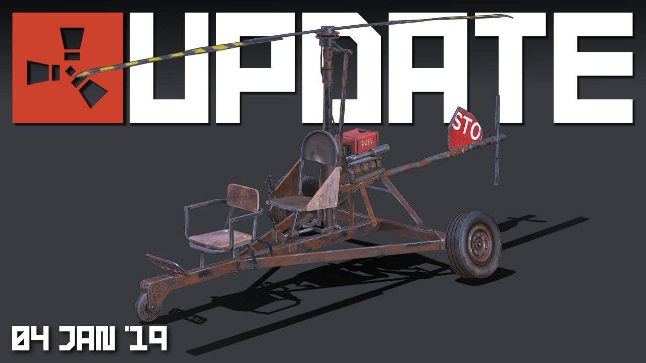 2 man Helicopter model | Rust update 4th Jan 2019