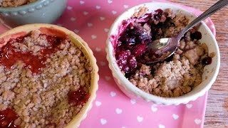 How To Make Easy Strawberry, Cherry, Blueberry Crumbles!