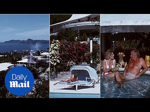 Vacationers relax in Acapulco on the Mexican Riviera in 1963 - Daily Mail