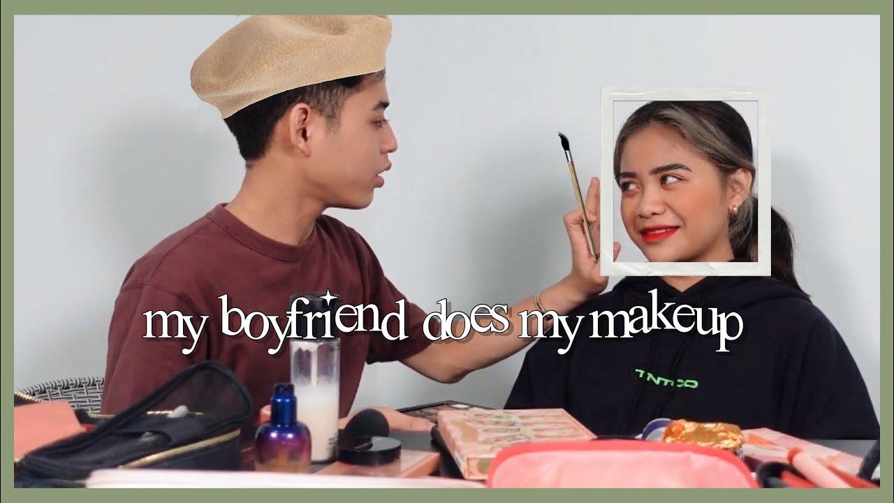 My boyfriend does my makeup! | Syhfit nak jadi MUA?! (Habislah muka I 😭😭😭) Farrah Khairina