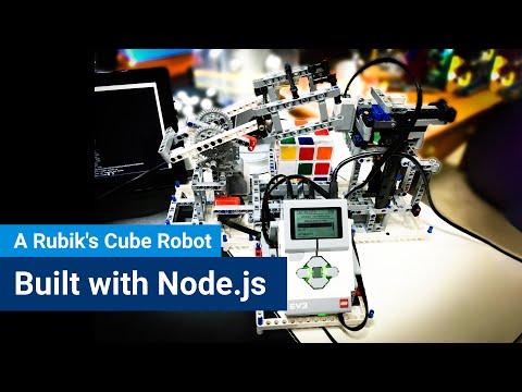 A Rubik's Cube Robot Built with Node.js