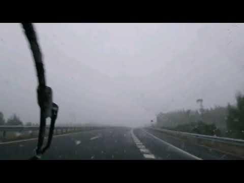 Precaución: na autovía Lugo-Palas tamén neva