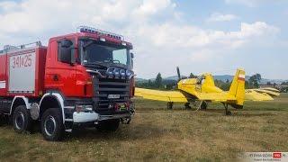 Janowice Wielkie: Pożar lasu. Dromader w akcji.
