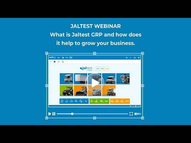 JALTEST WEBINAR | What is Jaltest GRP and how does it help to grow your business
