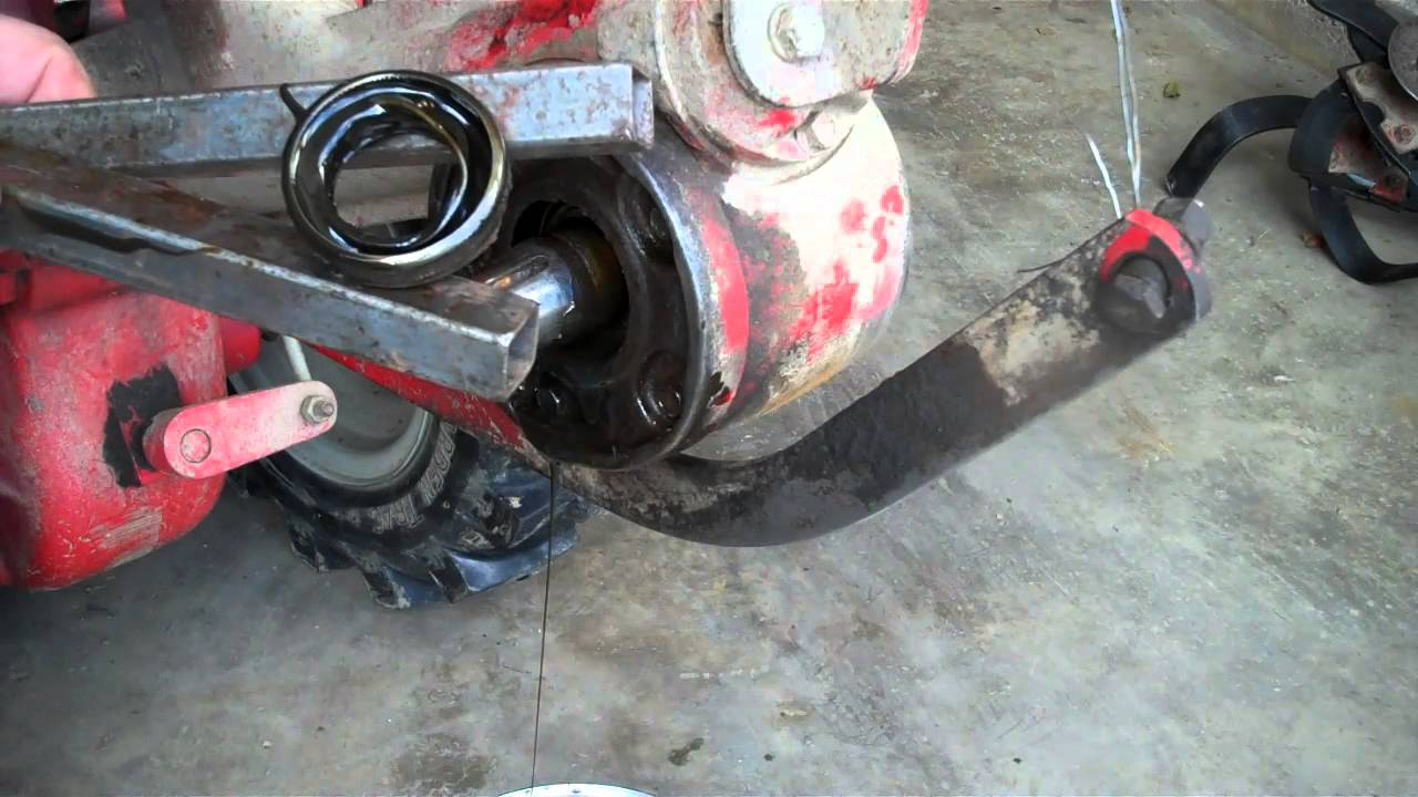 Replacing Tiller Shaft Oil Seal And Tines On Troy Bilt Roto