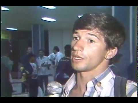 Delegacion ecuatoriana retorna de juegos bolivarianos de Maracaibo 1989