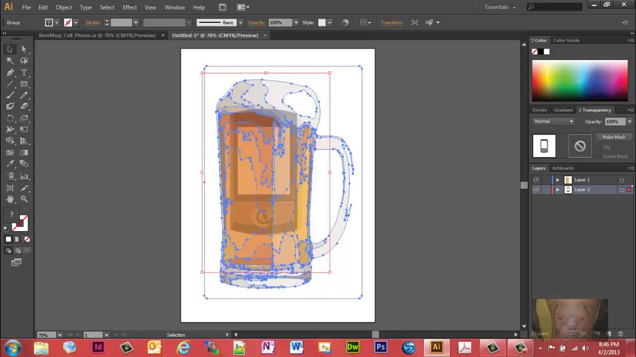 Combining Two Images in Illustrator CS6 Using Image Trace  YouTube