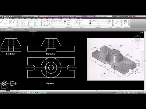 How to draw orthographic projection in autocad ?