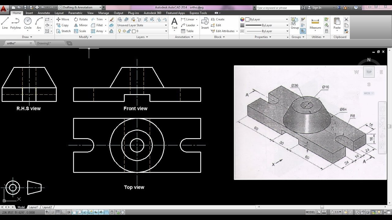 how to draw orthographic projection pdf