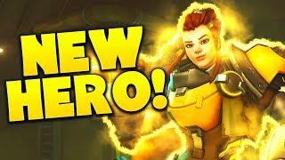 Brigitte Gameplay - Overwatch NEW HERO!