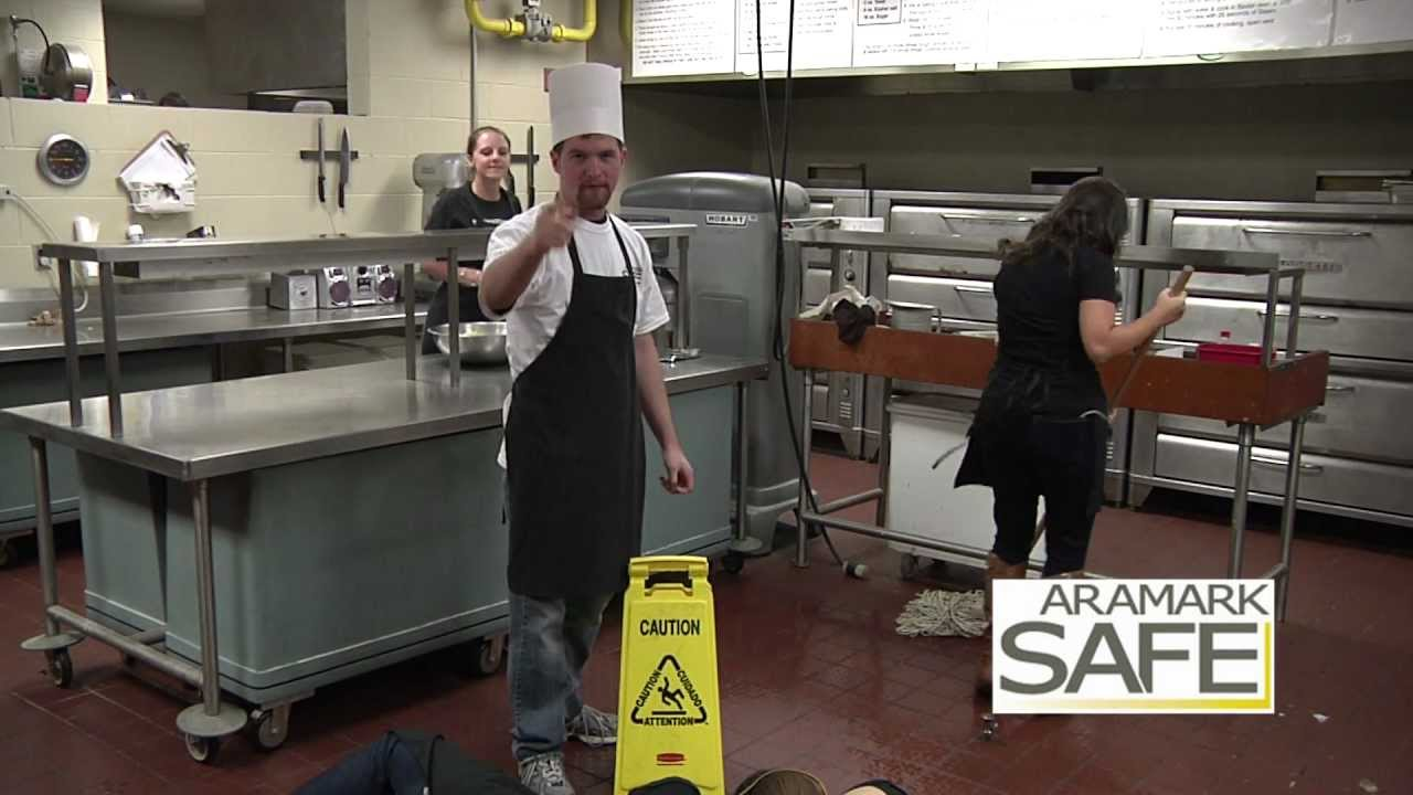 Wet Kitchen Floor Wet Floor Sign Kitchen Saftey Youtube