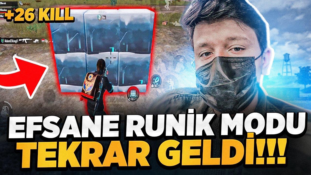 EFSANE RUNİK MODU TEKRAR GELDİ!!! YENİ GELEN ÖZELLİKLER? - PUBG MOBİLE