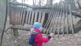 Детская площадка в ботаническом саду в Праге
