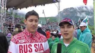Алан Караев, Марат Гафуров, Алексей Денисенко на турнире M-1 Challenge 40 в горах Ингушетии