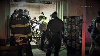 FDNY Rescue of Man Struck by Subway Train at York St Station