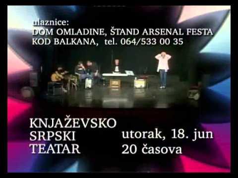 Iz glave: operetsko kabaretski oratorijum 18.jun 20.00. KST velika scena