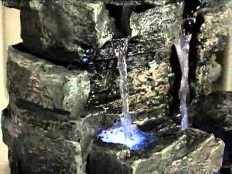 Ordinaire Rock Waterfall Indoor Outdoor Tabletop Fountain   Product Review Video    YouTube