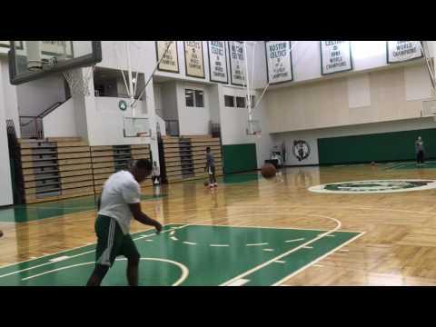 Demetrius Jackson slams with ease after Boston Celtics practice