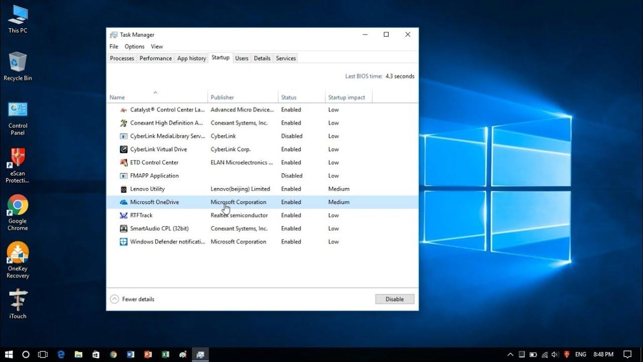 Hướng dẫn Để Quản Lý Các Chương Trình khởi động Với Windows?