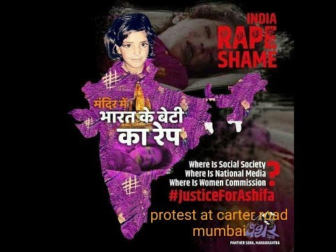 Justice for Asifa protests at carter road mumbai