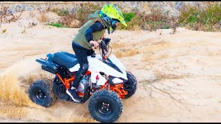 ALİNİN YENİ BENZİNLİ ATV Little child Ride on Quad Bike