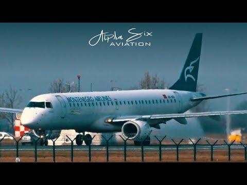 MONTENEGRO AIRLINES Embraer E-190 | Takeoff @ Belgrade Airport