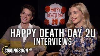 Happy Death Day 2U Interviews! Jessica Rothe, Israel Broussard, Christopher Landon And Jason Blum