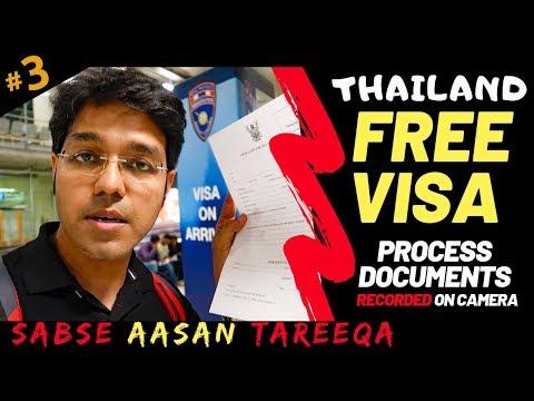 THAILAND: Free Visa On Arrival Till APRIL 2020 | Sample Visa Form | Documents | Tourist Sim