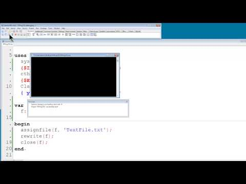Free Pascal Lazarus Program Tutorial 31 - Making And Writing To Text Files