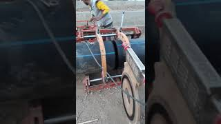 HDPE pipe joint fixing