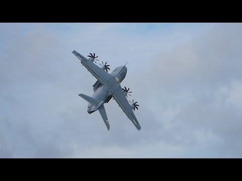 RIAT 2016 Airshow Airbus A400M Grizzly Atlas Transport Aircraft Flying Display