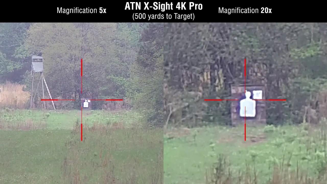 ATN X-Sight 4K Pro 5-20x Night Vision Scope