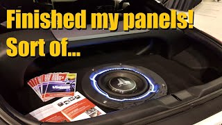 Finished the panels in my 350Z! Spare Tire sub Enclosure Part 6