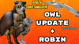 Roblox Bird Simulator OWL UPDATE