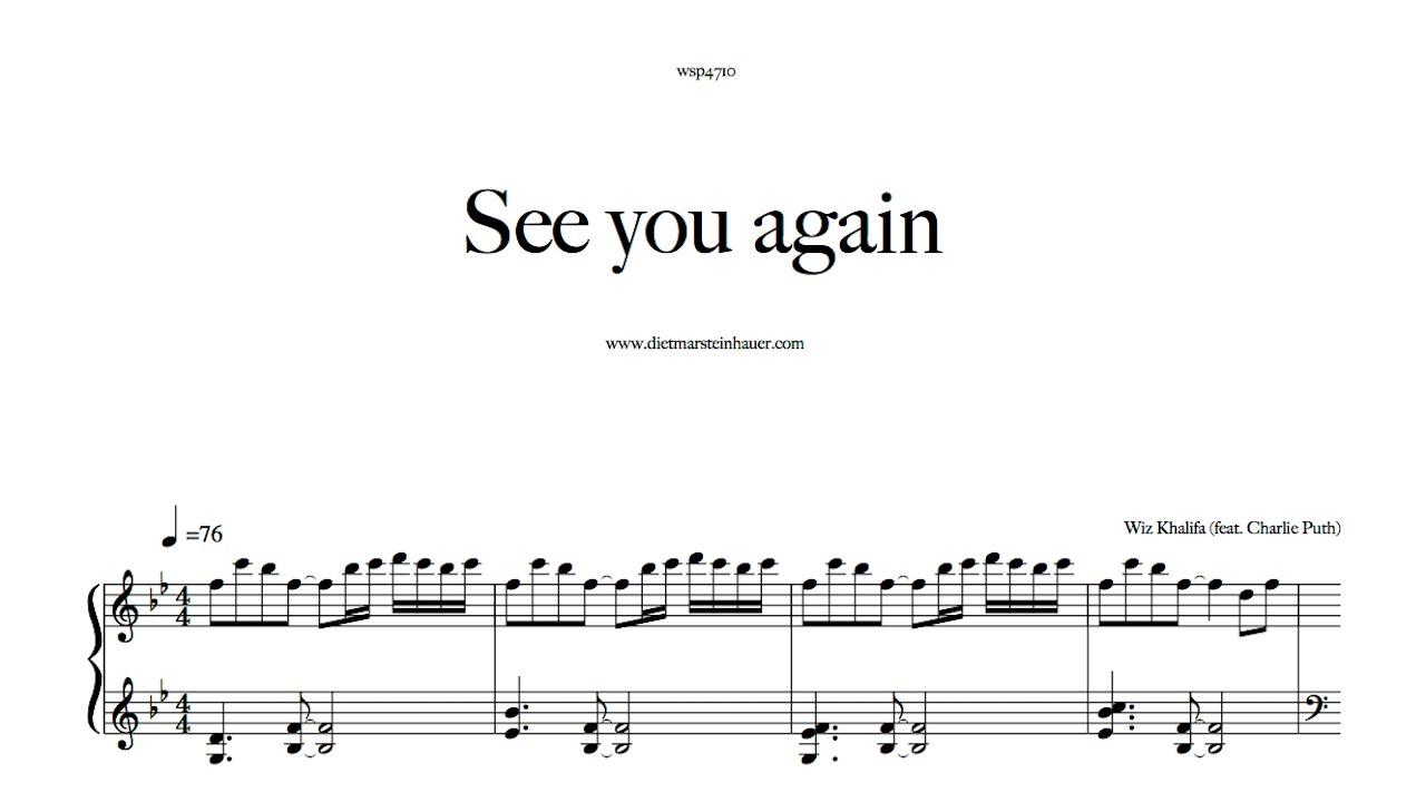 See you again wiz khalifa feat charlie puth played on for Dietmar steinhauer