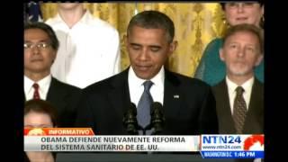Obama defiende los beneficios de la reforma sanitaria aprobada