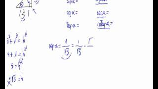 Trigonometric functions in a right triangle