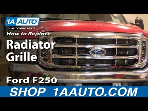 how to replace grille 99 07 ford f250 f350 super duty youtube how to replace grille 99 07 ford f250