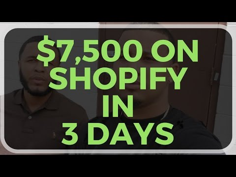 How We Made $7,500 on Shopify on a Weekend!