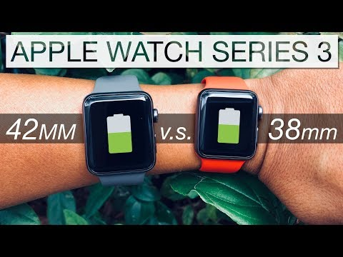 ca02cfe1 Apple Watch⌚️Series 3 LTE [ 42mm vs 38mm ] Battery Life Comparison in 4K -  YouTube