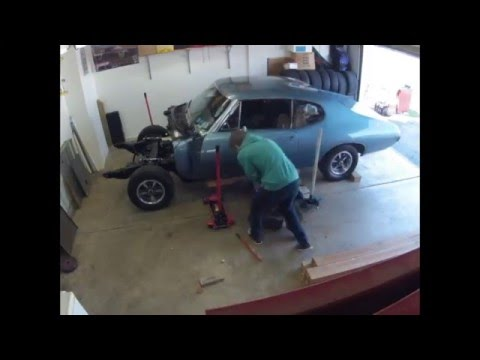 Ls conversion swap part 21 frame removal time lapse youtube for Garage prime conversion