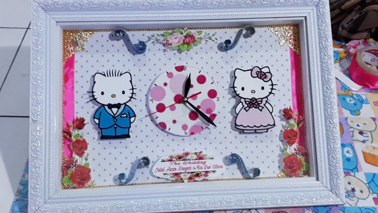 Tutorial Cara Membuat Mahar Jam Hello Kitty