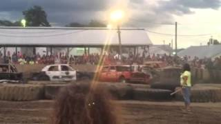 Fulton County Fair 2015 McConnellsburg, Pa Full-size Demolition Derby Feature