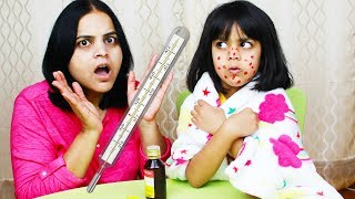 Ashu Pretends to be ill just like Nastya !! Kids Story | Katy Cutie Show