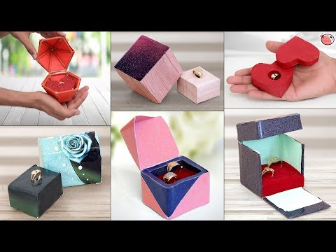 14 Ring Gift Box Making Idea !!! Jewelry Organization Ideas